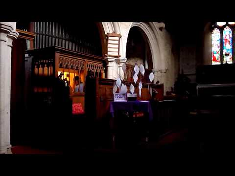"Lo, He comes with clouds descending (tune ""Helmsley"") - pipe organ, St Mewan Church"