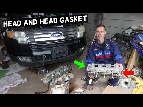 CYLINDER HEAD AND HEAD GASKET REPLACEMENT REMOVAL FORD EDGE FLEX TAURUS LINCOLN MKX MKZ MKS MKT 3 5