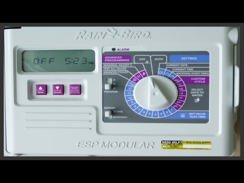 how to install program a rain bird esp series timer youtube rh youtube com