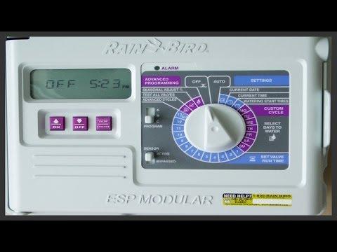 rain bird wiring diagram rj45 type b how to install & program a esp series timer - youtube