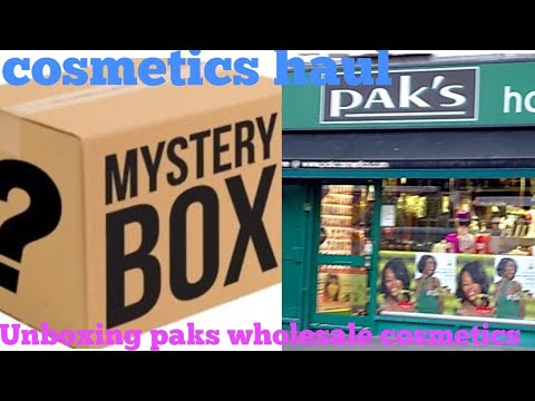 Unboxing £500 Paks MYSTERY Box/ paks wholesale cosmetics review
