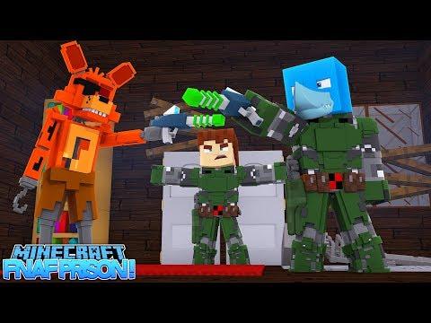 Minecraft FNAF PRISON - SHARKY FINDS THE SECRET ROOM