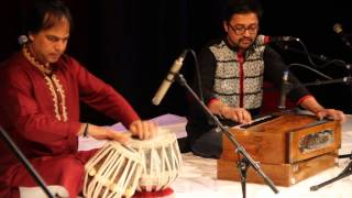 Amith Dey performing in World Poetry and Indian Classical Music Festival
