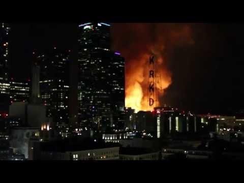 Massive Downtown LA Fire December 8th 2014