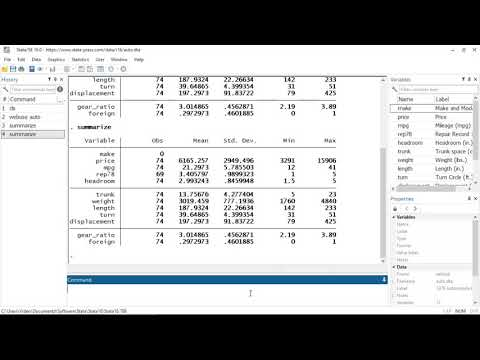 Video tutorials | Stata