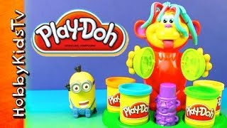 Play-doh Coco Nutty Monkey Set Minion Dave Makes Bananas Despicable Me By Hobbykidstv