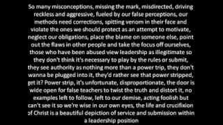 Lecrae Misconception lyrics on screen