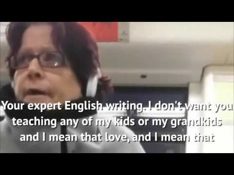 Racist woman verbally abuses two Asian women on a train (HD)