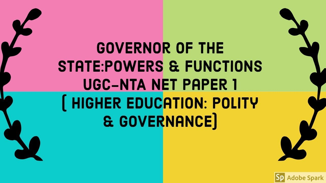 powers and functions of the governor
