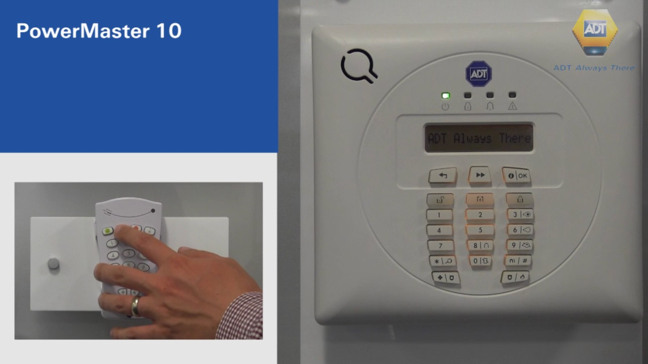 How To Night Set Your Alarm Master 10 Panel Adt Uk