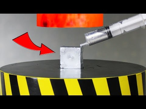Thumbnail: EXPERIMENT Glowing 1000 degree HYDRAULIC PRESS 100 TON vs Gallium