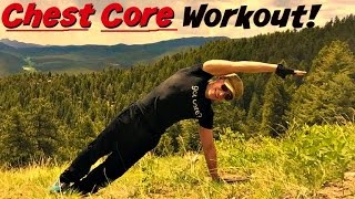home chest and plank workout push ups sprints stretches on a mountain colorado core workout