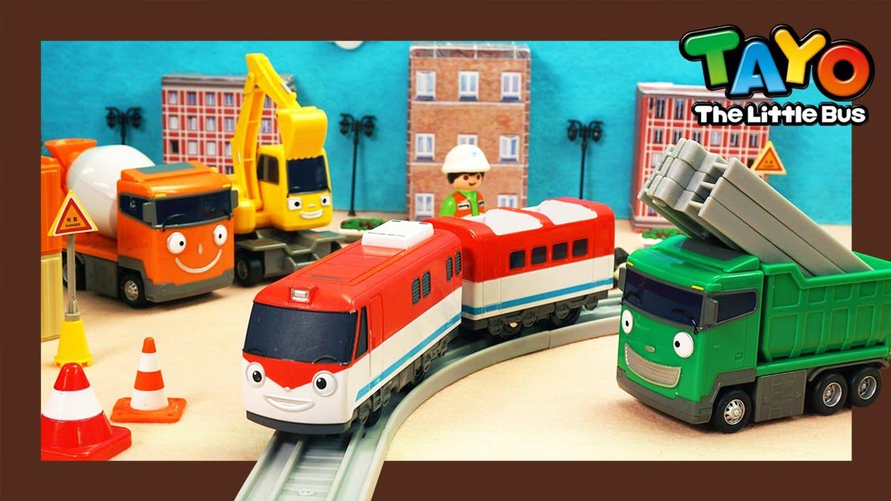 【実は人気の車】ちからもち、はたらくくるま l 小さな電車ティティポの橋を架ける l で色を学ぶ