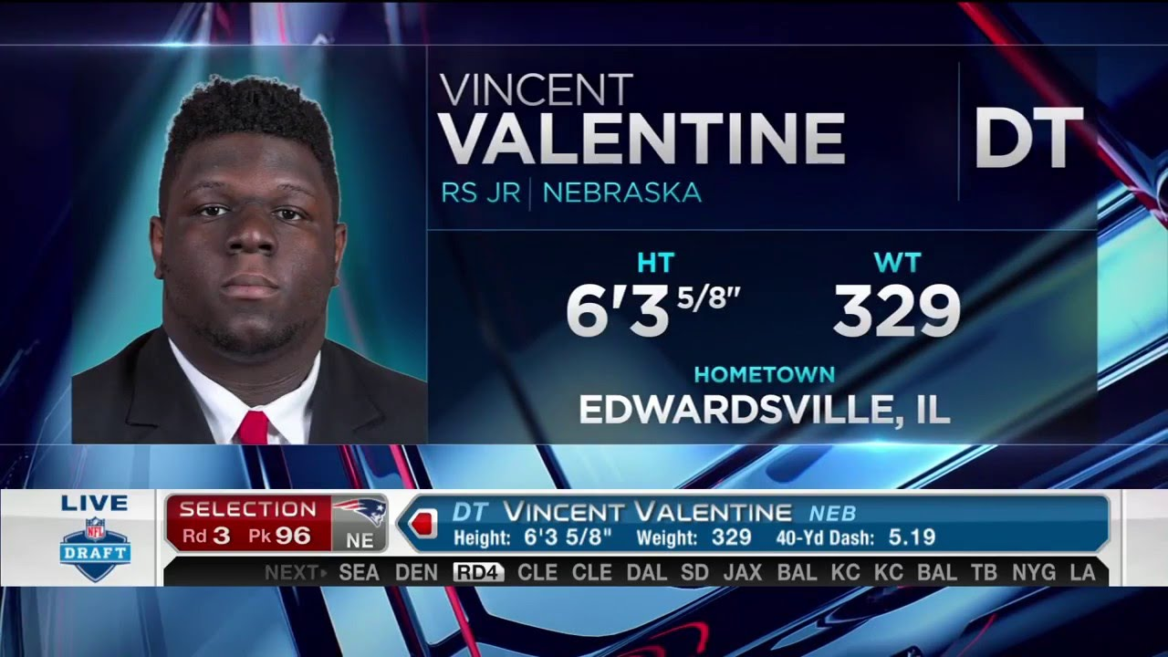 2016 NFL Draft Rd 3 Pk 96 | NE Patriots Select DT Vincent Valentine    YouTube