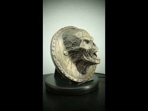 Phantom Skull Head Bronze Sculpture Wall Art Plaque Decor Ornament Figure
