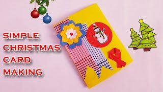 Easy Handmade Greeting Cards | DIY flower Christmas cards handmade POP UP card