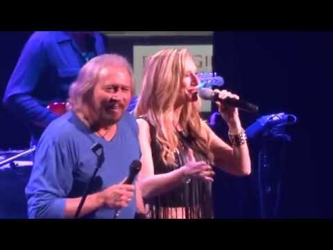 """""""Islands in the Stream"""" Barry Gibb & Beth Cohen@Wells Fargo Philadelphia 5/19/14 Mythology Tour"""