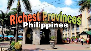 Top 10 richest provinces in the philippines.