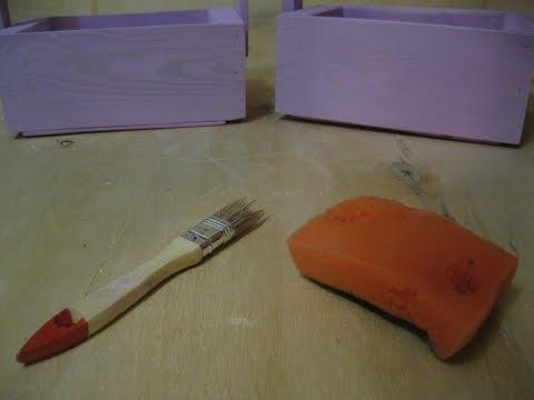Как красить без подтеков?  Метод с губкой вместо кисти (окраска дерева водно-эмульсионной краской)