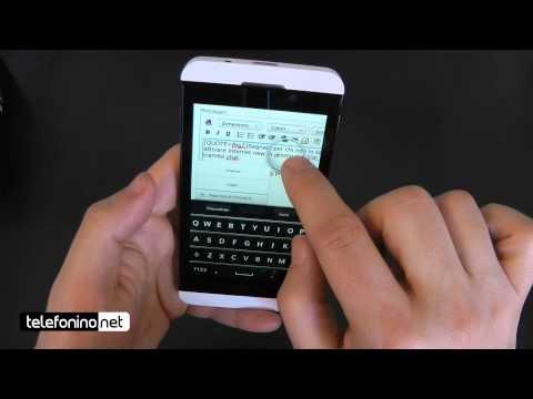 BlackBerry Z10 videoreview da Telefonino.net