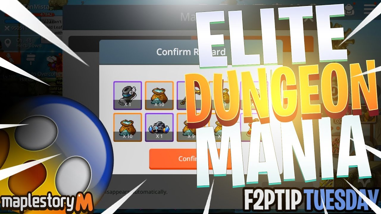 Maplestory M How to get more elite dungeon tickets daily- FreeToPlay TipTuesday