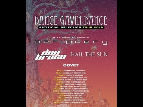 Dance Gavin Dance and Periphery tour announced 'Artificial Selection Tour'!