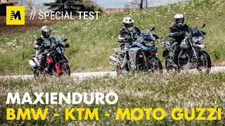 Moto Guzzi V85TT vs KTM 790 ADV vs BMW F850GS ADV: TEST maxienduro 2019! [English sub.]