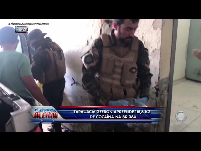 Tarauacá: GEFRON apreende 115,6 kg de cocaína na BR-364