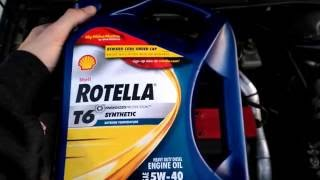 oil change day used shell rotella t6 5w 40