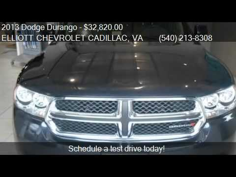 Lovely 2013 Dodge Durango Crew AWD 4dr SUV For Sale In Staunton, VA. Elliott  Chevrolet Cadillac