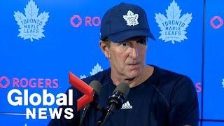 Toronto Maple Leafs coach Mike Babcock talks team leadership ahead of first game of season | FULL