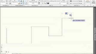 Построение ломаной линии с помощью отрезков в Autocad 2010