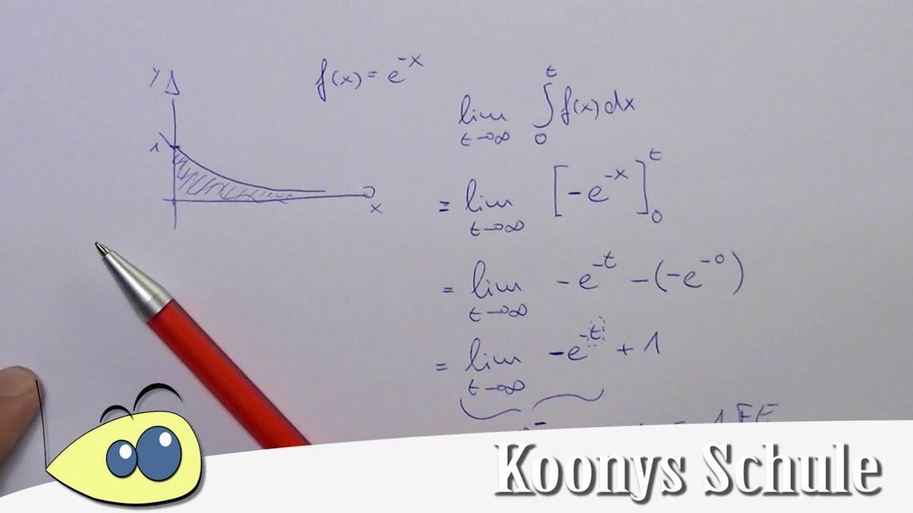 Beispiel Uneigentliches Integral E X Hoch Minus Fläche Im Ersten Quadranten Integration