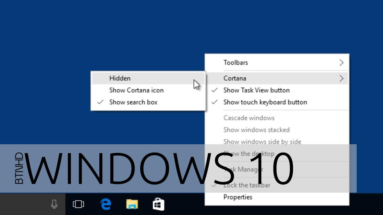 How To Hide Cortana on Windows 10 Taskbar