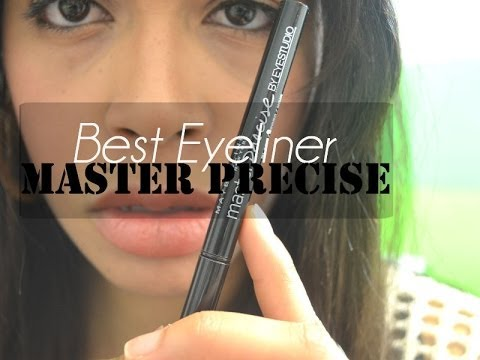 QUICK REVIEW Master Precise Eyeliner by Maybelline New york - YouTube