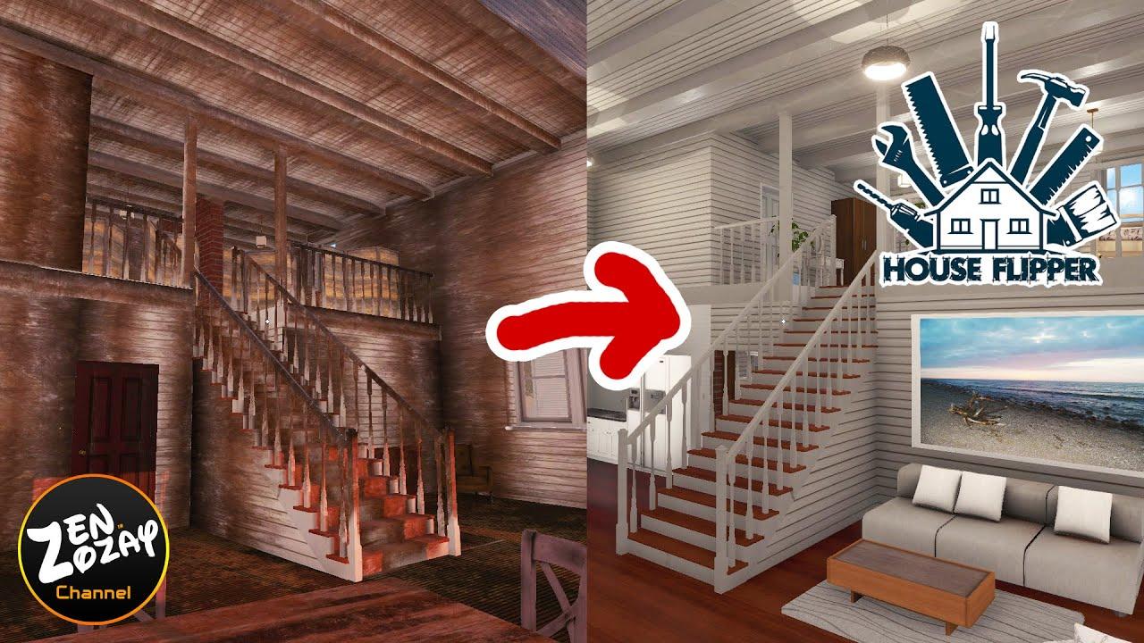 แต่งบ้านผีสิงริมทะเลเป็นบ้านสุดหรู - House Flipper #91