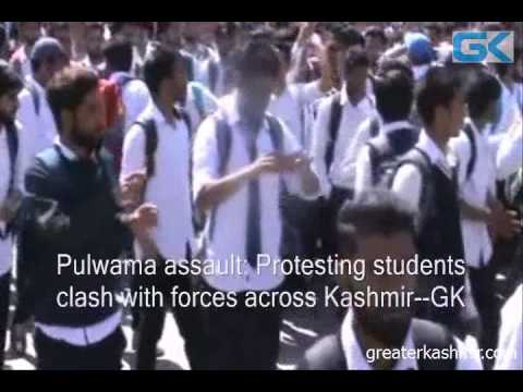 Pulwama assault: Protesting students clash with forces across Kashmir
