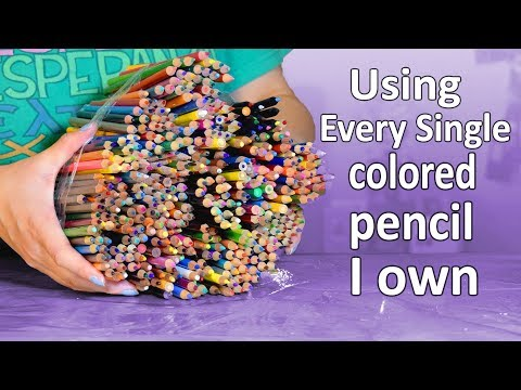 Using EVERY SINGLE Color Pencil I Own on ONE Drawing