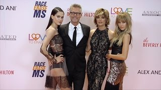 "Lisa Rinna, Harry Hamlin, Delilah, Amelia 2017 ""Race to Erase MS Gala"" Orange Carpet"