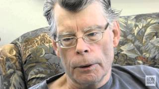 Stephen King talks about his writing process during an interview with the Bangor Daily News.
