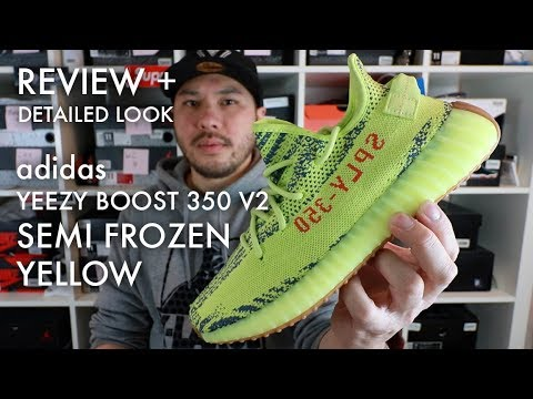a916179d7 ADIDAS YEEZY BOOST 350 V2 SEMI FROZEN YELLOW ( YEBRA ) - EARLY REVIEW PLUS  CLOSE UP LOOK