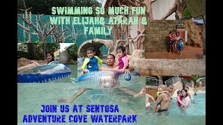 Singapore Sentosa Adventure Cove Waterpark Swimming so Fun