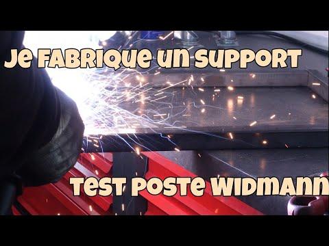 Je fabrique un support, test poste Widmann