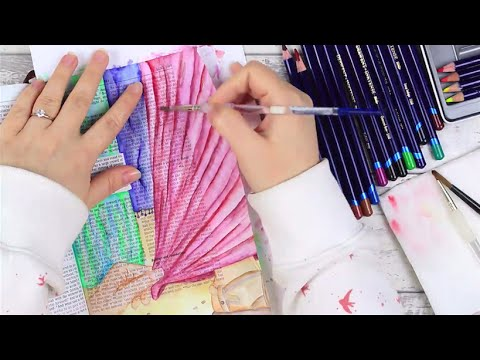 Inktense Pencils Tutorial - Bible Art Journaling Challenge Lesson 12