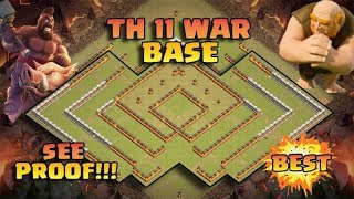 Best Th11 War Base 2017 Anti 1 Star/Anti 2 Star With Replay Anti bowler valk anti queen walk miner
