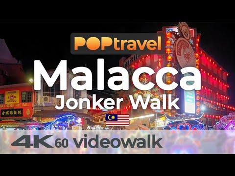 Walking in MALACCA / Malaysia - Jonker Street Walk & Nightmarket - 4K 60fps (UHD)