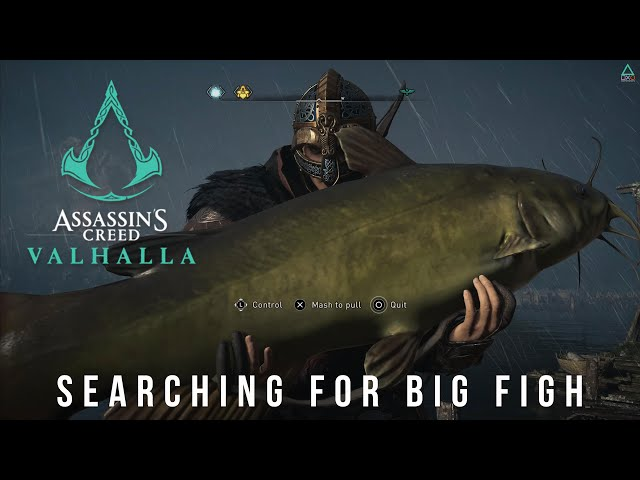 Assassin's Creed Valhalla (PS5 4K 60fps) Searching for Big Fish
