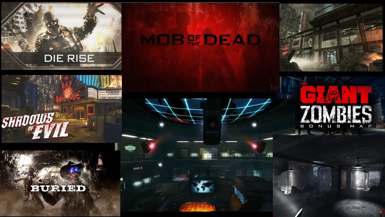 BO1, BO2, WAW Remade Maps! Custom Zombie Map Showcase! D9 Nightmare
