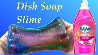 diy how to make dish soap galaxy slime without baking soda borax liquid starch or shaving cream