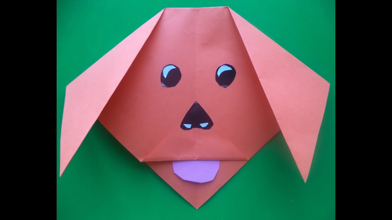 Origami dog face how to origami - Origami Pas Lice Od Papira Ubrzano Origami Paper Dog Face Accelerated Youtube